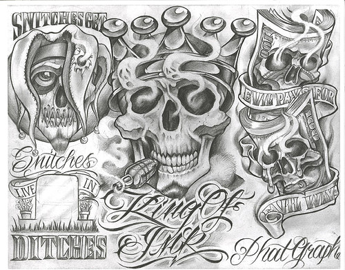 Chicano aztec drawings for Chicano tattoo art