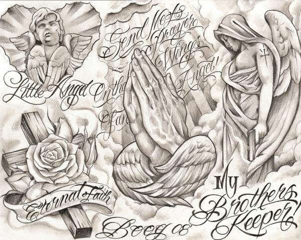 Chicano Tattoo Flash